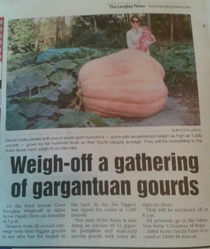 2014 Giant Pumpkin